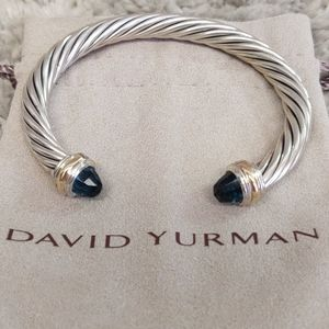 7 mm David Yurman Hampton blue topaz bracelet